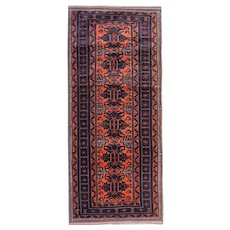 Antique Persian Wool Orange Baloch Runner Rug- 97x250cm