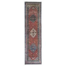 Antique Handwoven Kurdish Runner Rug- 102x372cm