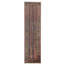 Fine Antique Handwoven Persian Runner Rug- 90x360cm
