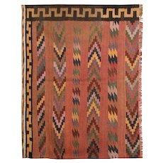 Traditional HAndmade Kilim Rug, Oriental Wool Flat-woven Rug- 110x140cm