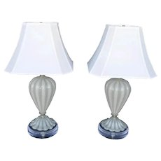 Pair of Murano Table Lamps 1950's