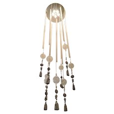 Vintage Monumental Flush Mount Chandelier, Italy, 1980's.