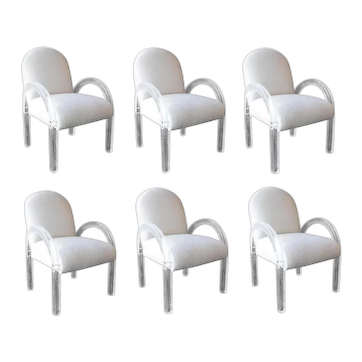 Beautiful Set of Six Dining Chairs by Lion In Frost. 1970's.