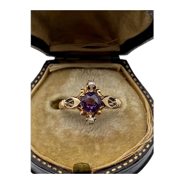 10k Yellow Gold Victorian Ring
