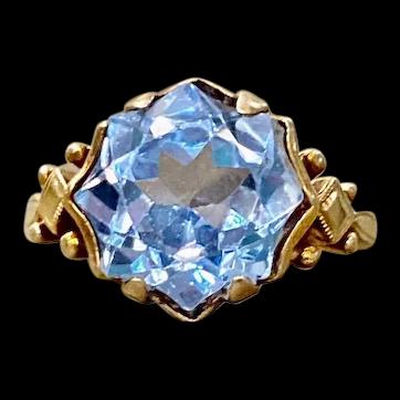 10k Rose Gold Star Cut Cocktail Ring