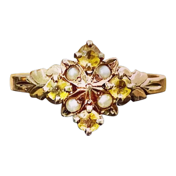 10k Rose Gold Victorian RIng size 6.75