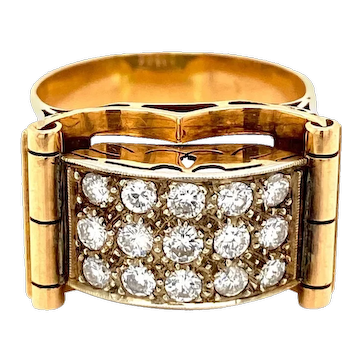 Art Deco 1.50 Carat Diamond Band Ring