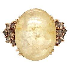 Vintage Yellow Sapphire Diamond Cocktail Ring