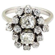 Estate Diamond 18 kt Gold Cluster Ring