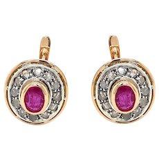 Art Deco Cluster Earrings