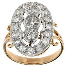 Art Deco Style Gold Diamond Ring