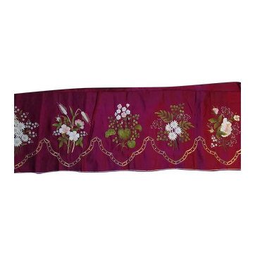 Lovely Silk Victorian Embroidered panel