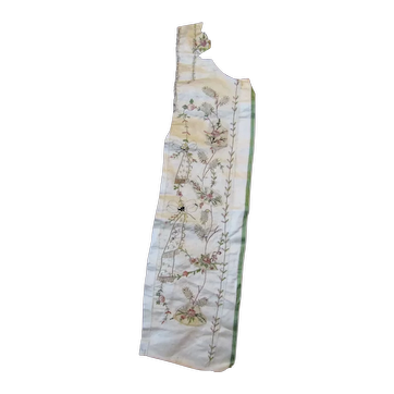18th Century Embroidered & Sequined section of a Gentleman's waistcoat