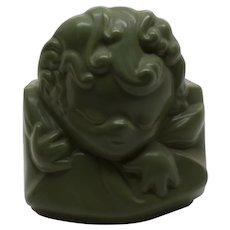 Hull Pottery, green angel vase/planter