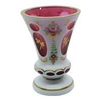 Bohemian Cased art glass vase