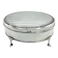 1920s Sterling Silver Jewellery Box