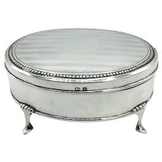 1920s Sterling Silver Jewelry Box