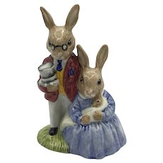 Royal Doulton Father, Mother and Victoria Bunnykins Figurine