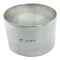 1940s Sterling Silver Napkin Ring