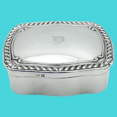 Antique 1918 Sterling Silver Jewelry Box