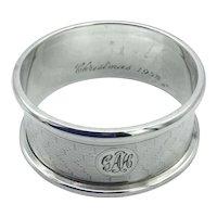 Vintage 1926 Sterling Silver Napkin Ring
