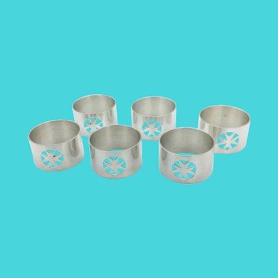 Set of Maltese Cross Napkin Rings