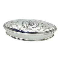 Antique 1903 Sterling Silver Snuff Box
