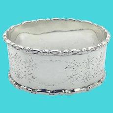 Vintage 1923 Sterling Silver Napkin Ring