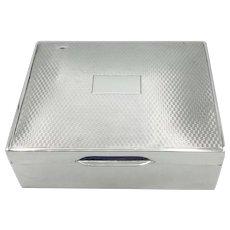 Vintage 1950 Small Sterling Silver Cigarette Box