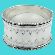 Antique 1800s Sterling Silver Napkin Ring