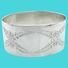Vintage 925 Sterling Silver Napkin Ring