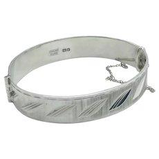 Vintage 1960s Sterling Silver Bracelet
