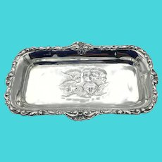 Antique 1909 Sterling Silver Pin Tray