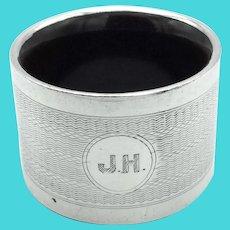 Art Deco 1930s Sterling Silver Napkin Ring