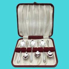 Vintage Ryals Silver Plated Coffee Spoons Set, Demitasse Spoons