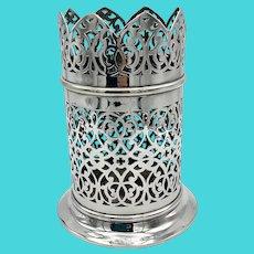 Antique Silver Plated Bottle Holder, Bottle Stand