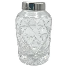 Vintage Stuart Cut Glass Vanity Jar