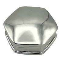 1995 Hallmarked Small Sterling Silver Pill Box