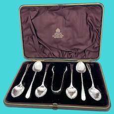 Set of Antique 1887 Sterling Silver Coffee Spoons