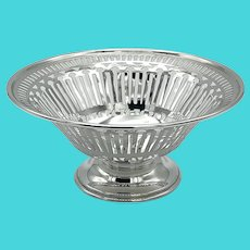 Antique 1912 Pierced Sterling Silver Bowl