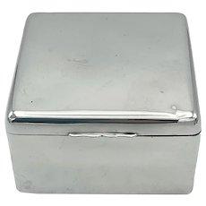 Antique 1902 Sterling Silver Cigarette Box