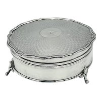 Antique Sterling Silver Jewelry Box, Hallmarked 1914