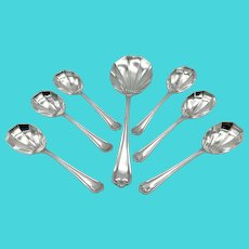 Vintage Set of Silver Plated Scalloped Spoons