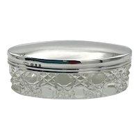 Antique 1920 Sterling Silver Vanity Jar
