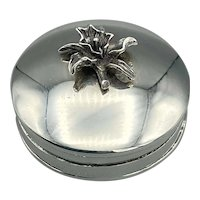 925 Silver Pill Box, Vintage Silver Pill Case