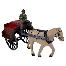 Timpo of Ireland Irish jaunting cart lead toy