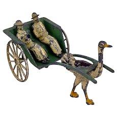 Crescent Toys Ostrich Rickshaw Set