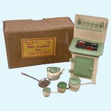 Barrett & Son Dolls House Miniature Series Boxed Gas Cooker Set 1950s
