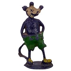 Stoddart Mickey Mouse, Rare Early Version Hollow-cast Toy