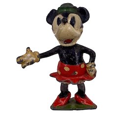 Britains lead toy Mickey Mouse Model Series in Metal Minnie Mouse from set 1645